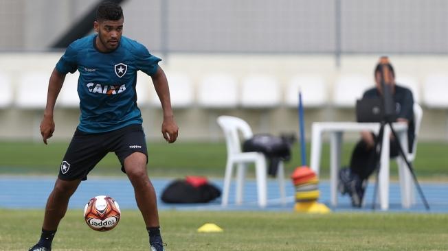 Brenner. Treino do Botafogo no Estadio Nilton Santos. 13 de Janeiro de 2018, Rio de Janeiro, RJ, Brasil