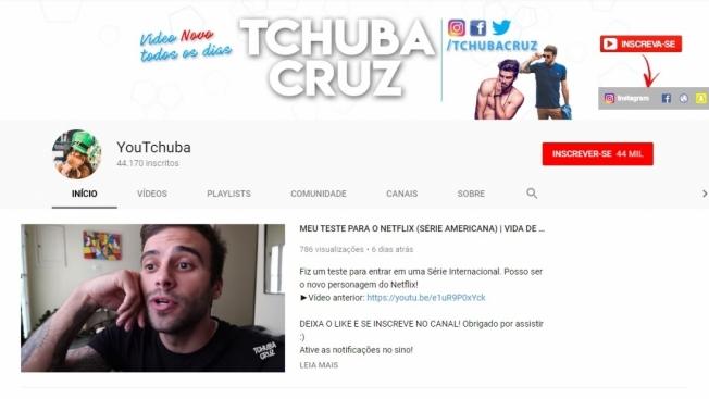 O canal de Tchuba Cruz tem quase 45 mil seguidores e mais de 3,2 milh�es de visualiza��es