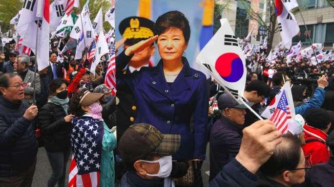 Partid�rios da ex-presidente pedem sua liberta��o em Seul