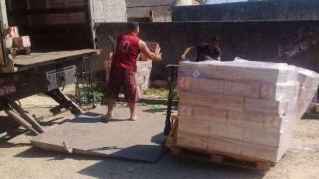 Uma das cargas, de leite, foi recuperada na comunidade de Vilar Novo