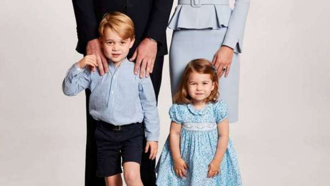 George e Charlotte, da fam�lia real brit�nica