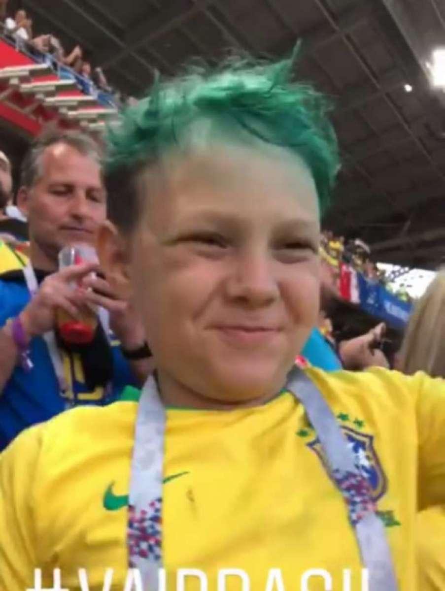 Filho do Neymar(reprodução do Instagram). Vários famosos publicaram nas redes  sociais ... dc176a7bbe56d