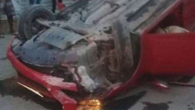 Rodrigo (detalhe) morreu ap�s levar dois tiros e o seu carro capotar