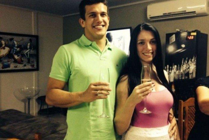 Luis Felipe Manvailer e Tatiane Spitzner