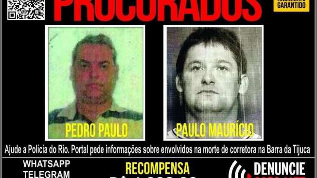 Portal dos Procurados divulgou cartaz oferecendo recompensa por informa��es sobre os primos assassinos