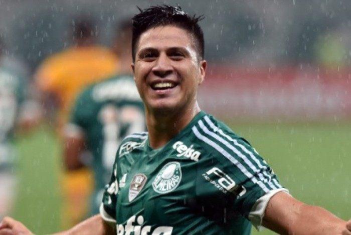 Jonathan Cristaldo enquanto ainda atuava pelo Palmeiras