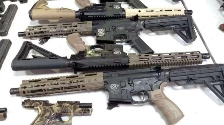 Os armamentos interceptados são de origem estrangeira