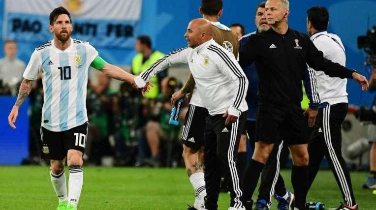 Messi e Sampaoli na seleção: a parceria fracassou na Copa da Rússia