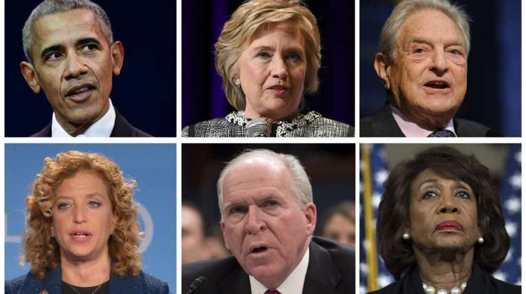 Obama, Hillary Clinton, Debbie Schultz e John Brennan foram alvos