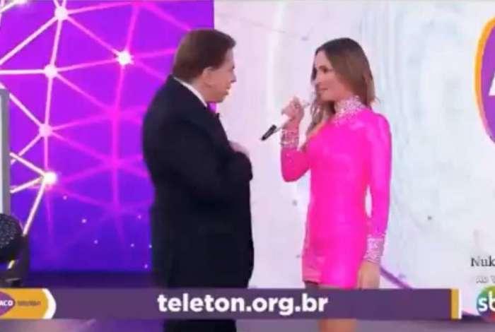 Silvio Santos e Claudia Leitte no Teleton 2018
