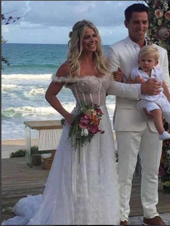 Krina Bacchi e Amaury Nunes se casam