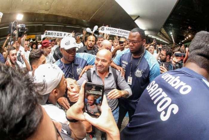 Chegada de Jorge Sampaoli ao Santos