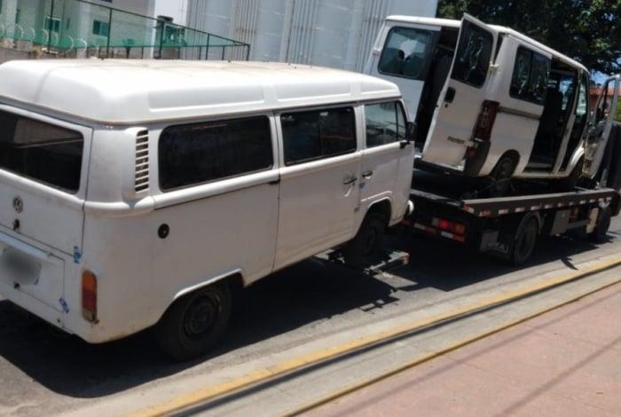 Vans piratas foram apreendidas por fiscais em Campo Grande