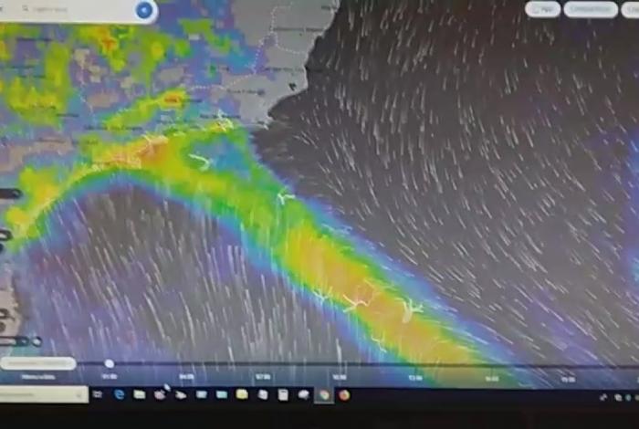 Vídeo falando sobre chuva no Rio é fake