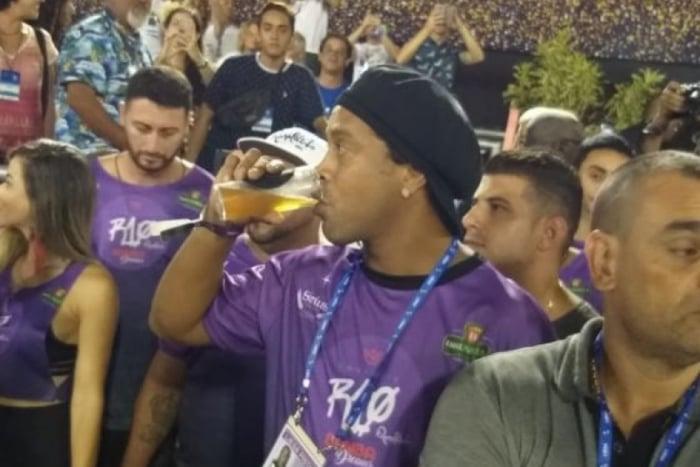Ronaldinho Gaúcho na Marquês de Sapucaí