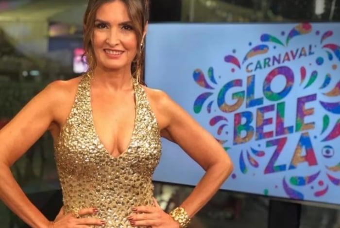 Fátima Bernardes no estúdio da Globo