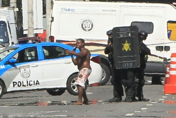 Tentativa de assalto na Cidade Nova