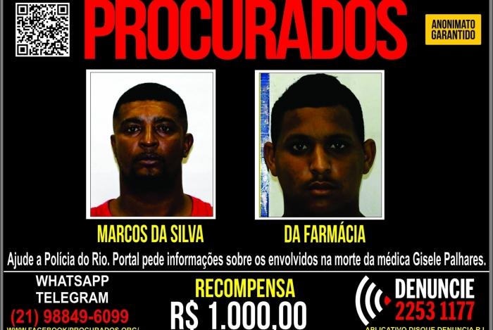Marcos da Silva Xavier, de 29 anos, e Rodrigo Ribeiro da Silva, o
