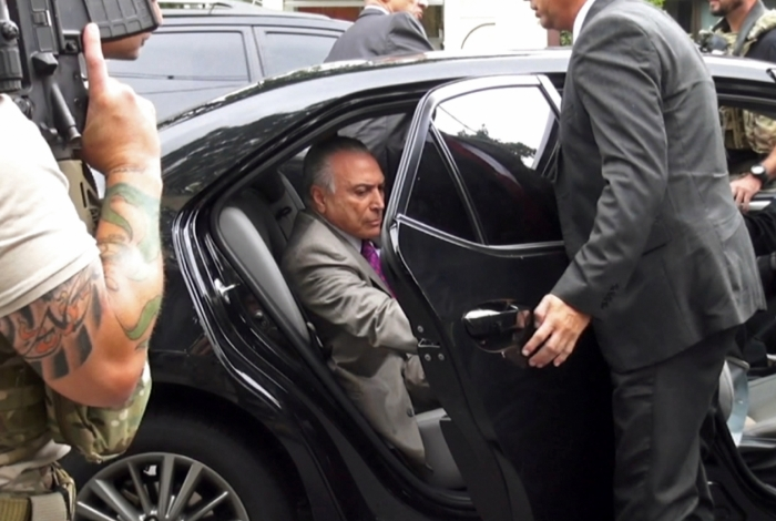 Michel Temer está preso na PF por decisão do juiz Marcelo Bretas, da 7 ª Vara Criminal Federal do Rio.