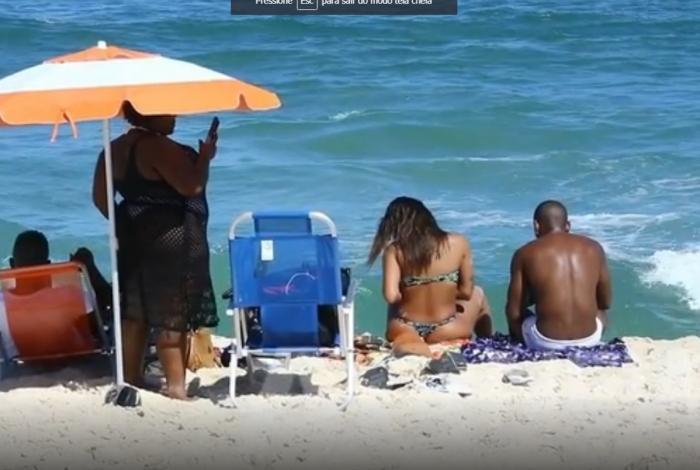 Jojo, Anitta e Nego na praia do Recreio