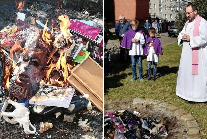 Livros de Harry Potter são queimados por padres poloneses