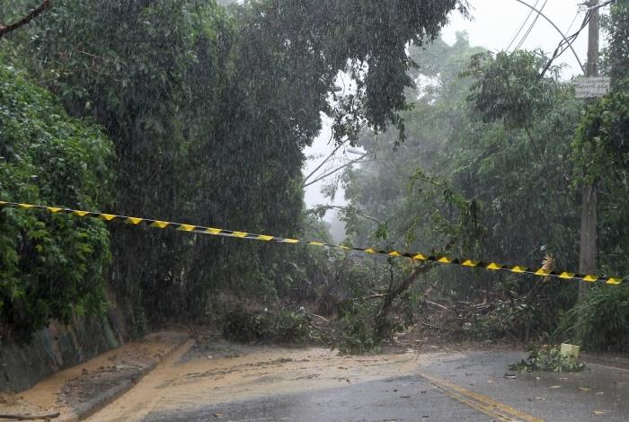 Devido a grande chuva que atingiu o Rio de Janeiro, o Alto da Boa Vista foi interditado na noite de segunda e liberado somente nesta sexta-feira