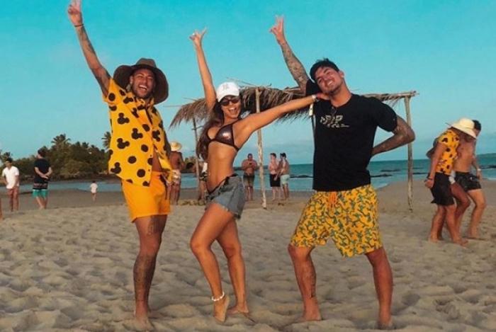 Neymar, Isabella Arantes e Gabriel Medina