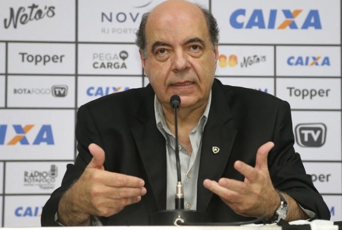 O presidente Nelson Mufarrej decidirá quem será o próximo técnico do Botafogo