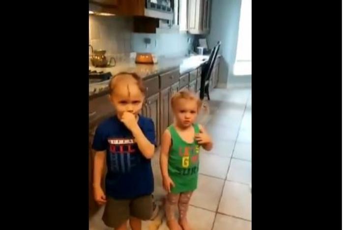 Menino raspa cabeça dos irmãos mais novos e vídeo bomba na Internet