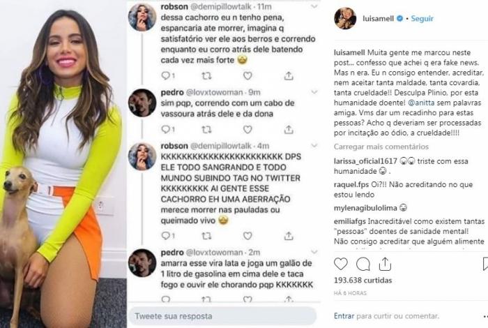 Luisa Mell inicialmente achou que era 'fake news'