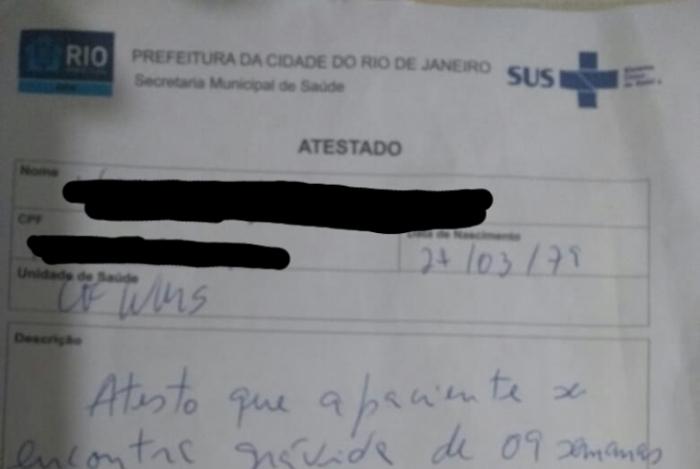 Visitante com atestado médico falso de gravidez é flagrada tentando entrar com drogas em Bangu 3