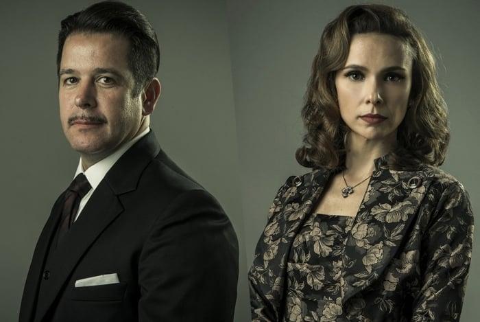 Casados na vida real. Murilo Benício e Débora Falabella fazem seu quarto trabalho juntos, na série 'Se Eu Fechar os Olhos Agora'