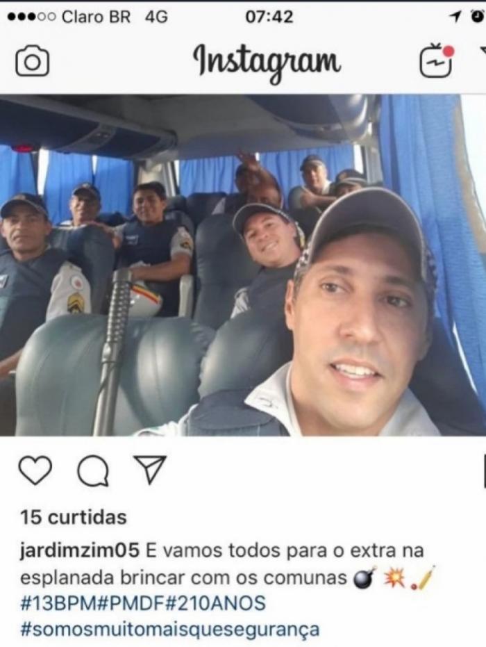 PM disse que ia 'brincar com comunas' na Esplanada, em Brasília, onde ocorre ato contra cortes na Educação