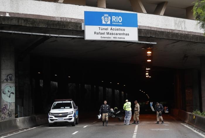 Túnel Acústico foi liberado no sentido São Conrado. Técnicos seguem trabalhando para reabri-lo no sentido Lagoa