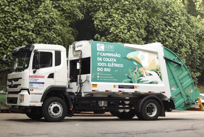 Caminhão elétrico será usado na coleta de resíduos orgânicos da Cadeg