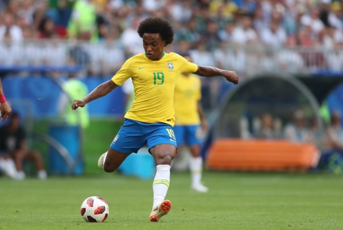 Willian disputou a Copa de 2018 pelo Brasil