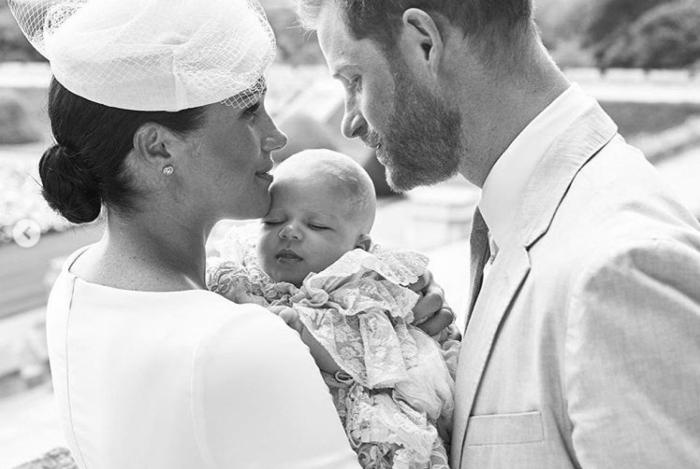 Batizado do herdeiro mais novo, o príncipe Archie Harrison Mountbatten-Windsor, filho de Harry e Meghan Markle