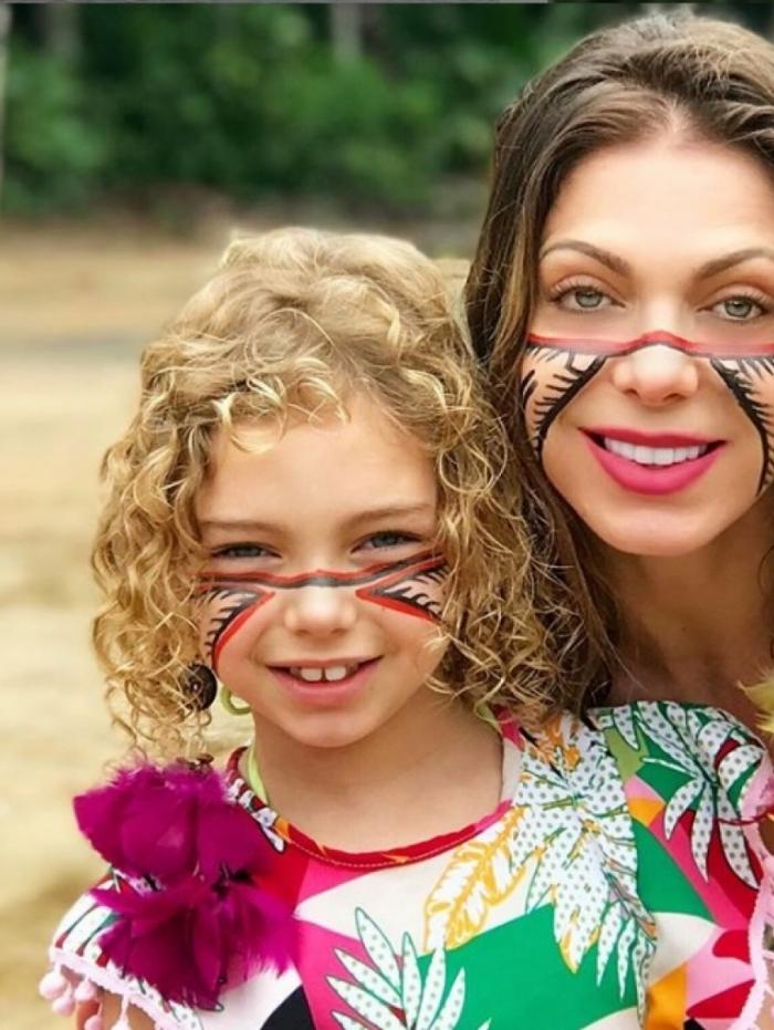 Sheila Mello e a filha Brenda