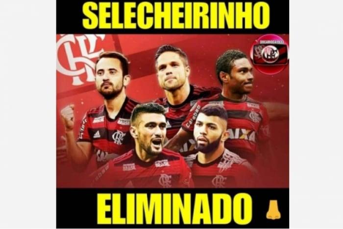 Flamengo foi eliminado na Copa do Brasil