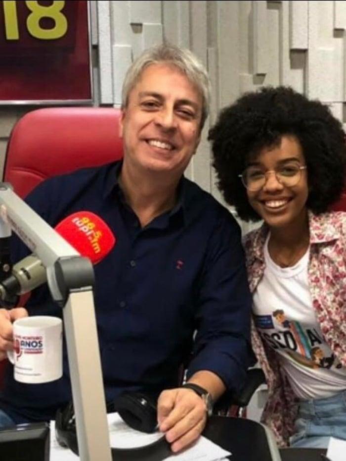 Gabriella Freire na Rádio Tupi com Clóvis Monteiro