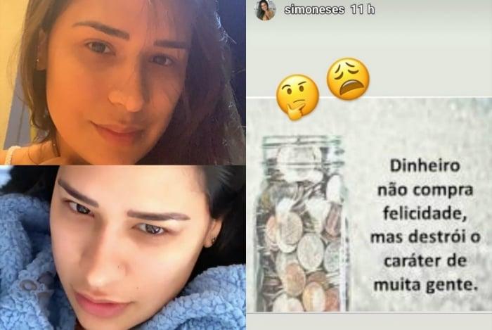 Cantora fez diversas reflexões em seu perfil do Instagram