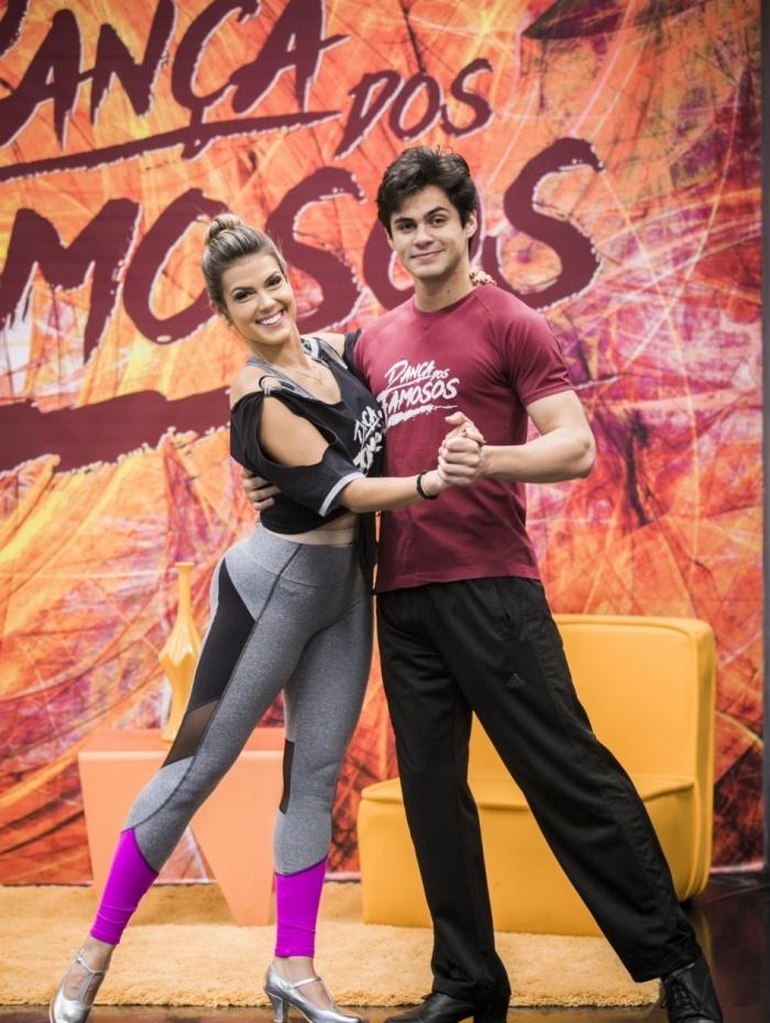 Nathalia Melo e Lucas Veloso na época da 'Dança dos Famosos'