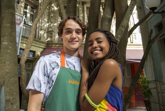 Jaqueline (Gabz) e Thiago (Danilo Maia), em 'Malhação — Toda forma de amar'