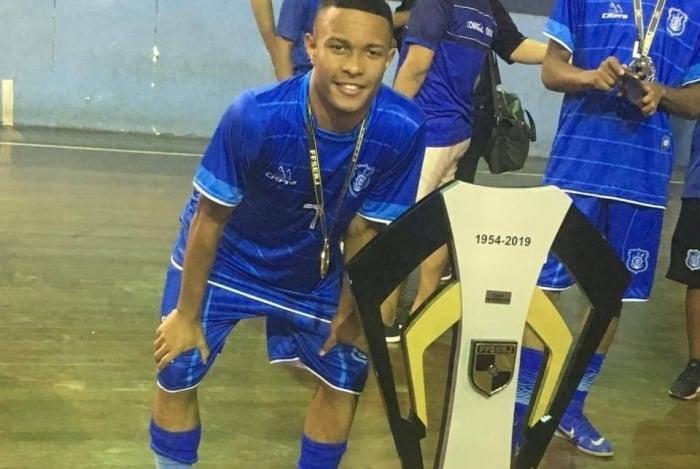 Gabriel, morto por bala perdida na Tijuca, era jogador de futsal no Olaria
