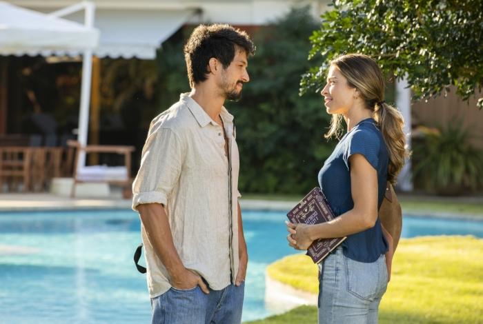 Marcos (Romulo Estrela) e Paloma (Grazi Massafera), em 'Bom Sucesso'