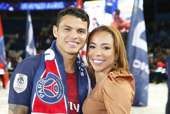 Isabelle e Thiago Silva