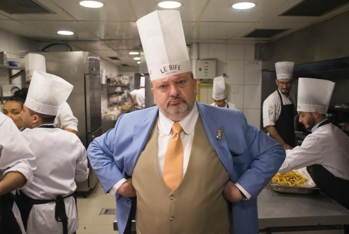 Erick Jacquin no programa 'Pesadelo na Cozinha', da Band