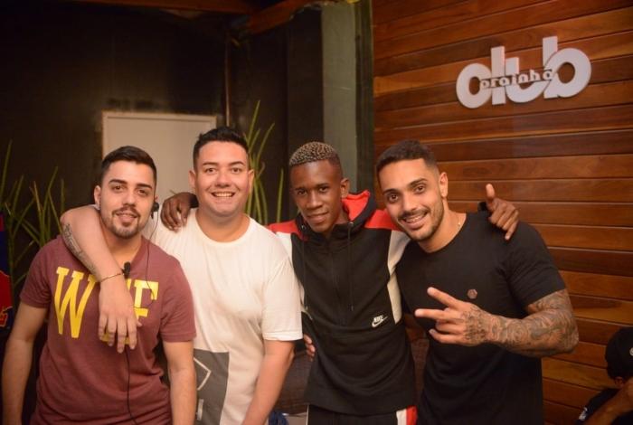 DJ Zullu e os empresários Dereck, Luã Mello e Thiago Carvalho