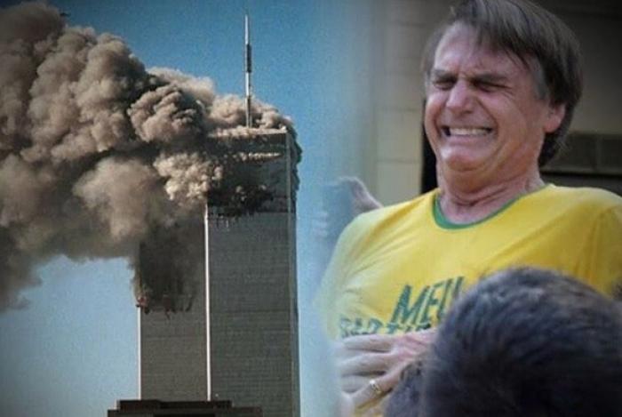 Publicação compara facada em Bolsonaro à ataque terrorista nas torres gêmeas em 11 de setembro de 2001