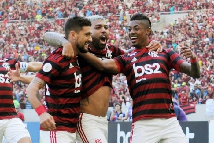Arrascaeta, Gabigol e Bruno Henrique